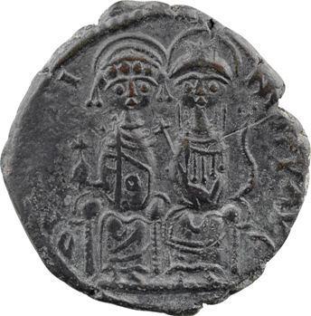 Justin II et Sophie, follis, Nicomédie, 1re officine, An IIII = 568-569