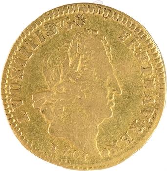 Louis XIV, demi-louis d'or aux huit L et aux insignes, 1701 Paris