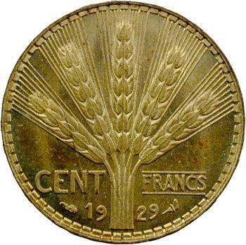 IIIe République, essai de cent francs Turin, bronze-aluminium, 1929