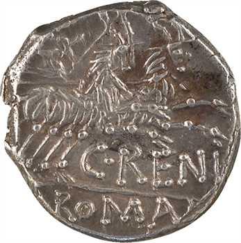 Renia, denier, Rome, 138 av. J.-C.