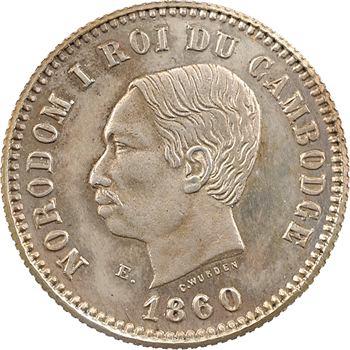 Cambodge, Norodom Ier, essai de un franc, 1860 Bruxelles