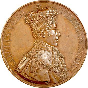 Charles X, médaille du sacre à Reims (Sb.85d), 1825 Paris