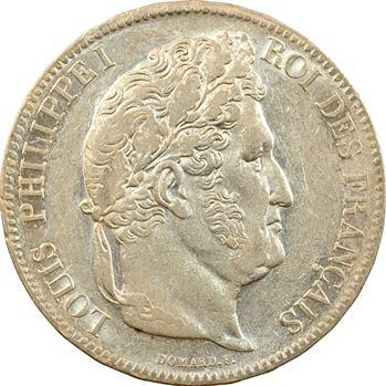 Louis-Philippe Ier, 5 francs IIe type Domard, 1838 Lille