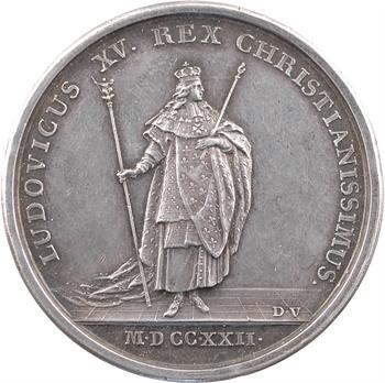 Louis XV, sacre à Reims le 25 octobre 1722, par Duvivier et Blanc, mariage en 1808, 1722 Paris