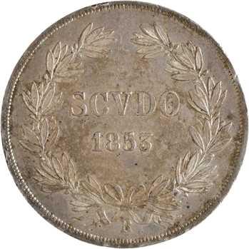 Vatican, Pie IX, scudo, 1853/VIII Rome