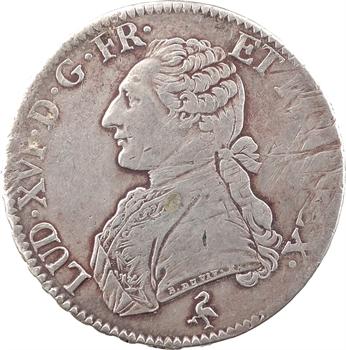 Louis XVI, écu aux branches d'olivier, 1776, 1er semestre, Paris