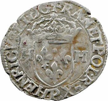 Henri III, douzain aux 2 H, 1er type, 1589 Dijon