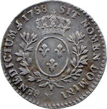 Louis XVI, dixième d'écu aux rameaux d'olivier, 1788 Marseille