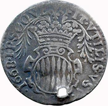 Monaco, Louis Ier, douzième d'écu ou pièce de 5 sols, 1668