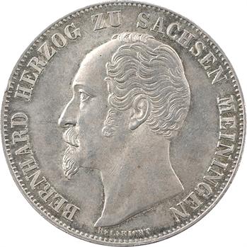Allemagne, Saxe-Meiningen (duché de), Bernard II, 2 gulden, 1854 Munich