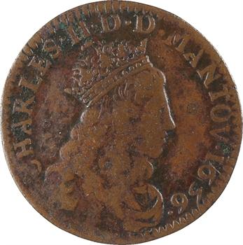 Charleville (principauté de), Charles II de Gonzague, liard 4e type, 1656 Charleville