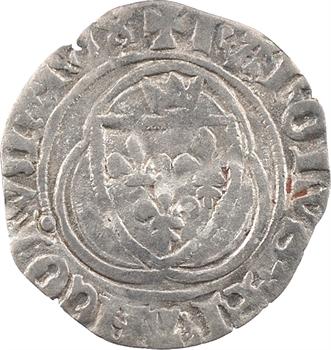 Charles VII, petit blanc à la couronne, 4e émission, Troyes