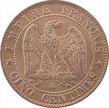 Second Empire, cinq centimes tête laurée, 1864 Strasbourg