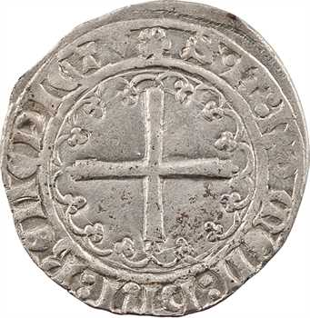 Charles VII, petit blanc dentillé 2e émission, Troyes