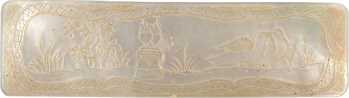 IIIe République, plaquette de mariage en nacre, s.d