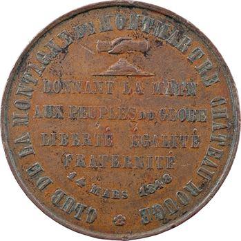 IIe République, le Club de la Montagne de Montmartre, 1848 Paris