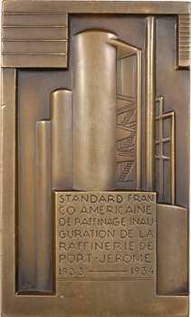 États-Unis, standard franco-américaine de raffinage, par Miklos, 1934