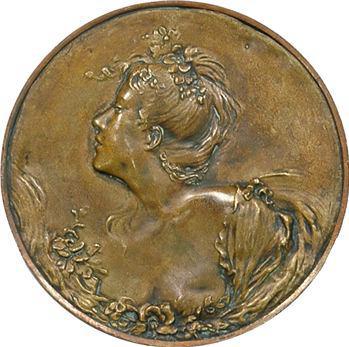 IIIe République, graveur A : la femme aux roses, s.d