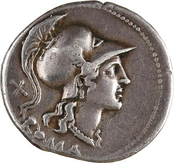 Anonyme, denier, Rome, 115-114 av. J.-C