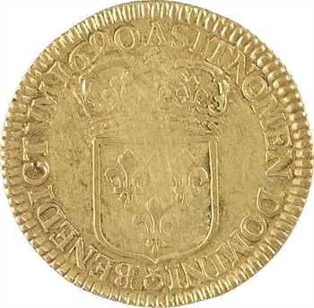 Louis XIV, double louis d'or à l'écu, flan neuf, 1690 Paris