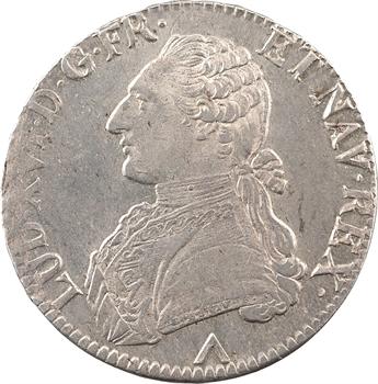 Louis XVI, écu aux rameaux d'olivier, 1775 Lille