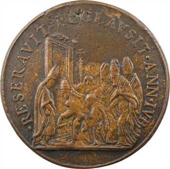 Vatican, Benoit XIII, fermeture de la Sainte Porte, par Hamerani, fonte, s.d. (1724-1730)