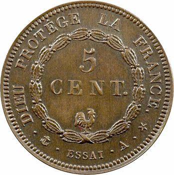 Louis-Philippe I, essai du 5 centimes au coq