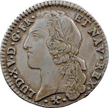 Louis XV, cinquième d'écu au bandeau, 1766 Bayonne