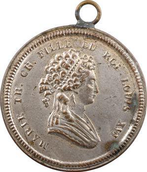 Marie-Thérèse-Charlotte, fille du Roi Louis XVI, dans le style de Palloy, s.d. (Directoire)