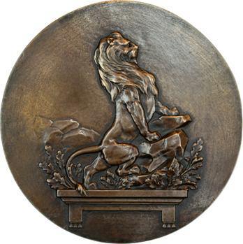Pagny (E.) : Lion en mémoire des enfants du Rhône, fonte, 1887 Paris