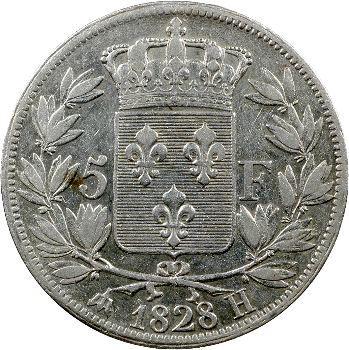 Charles X, 5 francs 2e type, 1828 La Rochelle