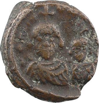 Héraclius et Héraclius Constantin, pièce de 12 nummi, Alexandrie, 613-630