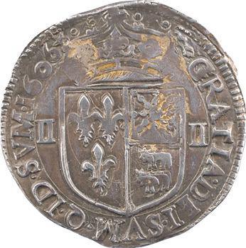 Henri IV, quart d'écu de Béarn, 1606 Morlaàs