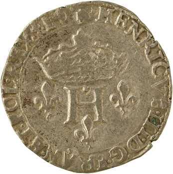 Henri III, double sol parisis, 2e type, 1581 Dijon