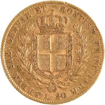 Italie, Savoie-Sardaigne, Charles-Albert, 20 lire, 1834 Turin