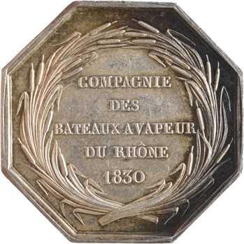 Louis-Philippe Ier, Compagnie des bateaux à vapeur du Rhône, par Barre, 1830 Paris