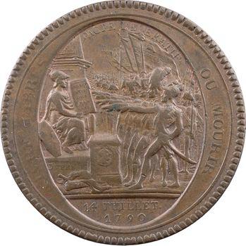 Constitution, cinq sols de Monneron au serment, frappe monnaie, An IV, 1792 Birmingham