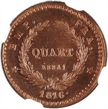 Napoléon II, essai du quart de franc, 1816 (1860) Bruxelles, NGC MS65RD