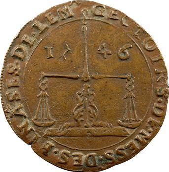 Pays-Bas méridionaux, Brabant, Charles Quint, jeton des finances, 1546 Anvers