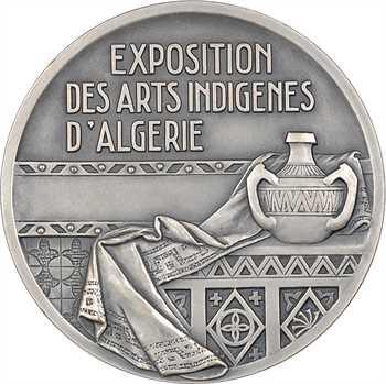 Algérie, Exposition des arts indigènes, par Camille Alaphilippe, en bronze argenté, 1938 Paris