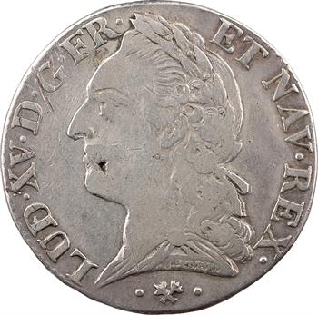Louis XV, demi-écu à la vieille tête, 1772 Bayonne