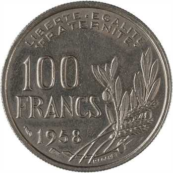 IVe République, 100 francs Cochet, 1958 Paris