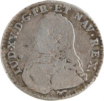 Louis XV, dixième d'écu aux branches d'olivier, 1737 (2nd semestre) Paris