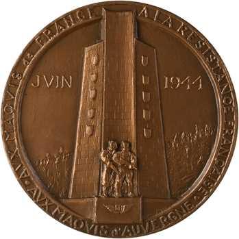 Ve République, les combats du Mont-Mouchet, par Coulon, 1944 (1982) Paris