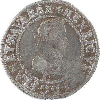 Henri IV, demi-franc, 1er type de Saint-Lô, 1594 Saint-Lô