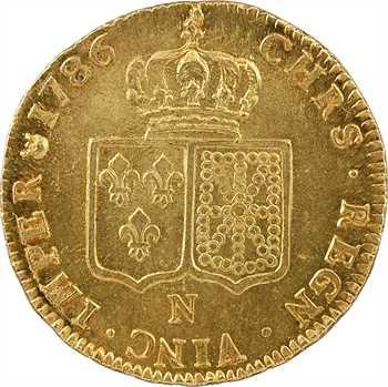 Louis XVI, double louis à la tête nue, 1786 Montpellier