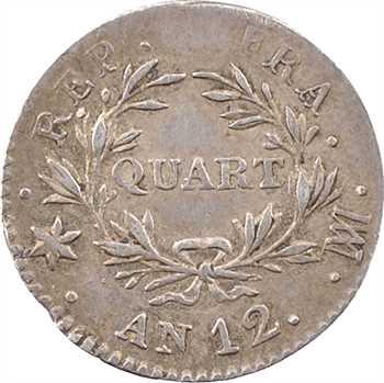 Consulat, quart de franc, An 12 Marseille