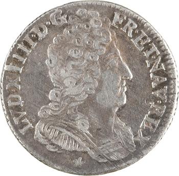 Louis XIV, dixième d'écu aux trois couronnes, 1712 Montpellier