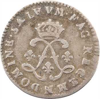 Louis XIV, quadruple sol aux deux L, 1692 Montpellier