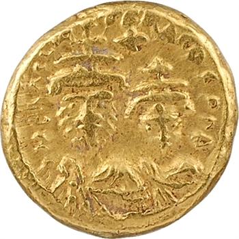 Héraclius et Héraclius Constantin, solidus globulaire, Carthage, 10e officine, c.620-621